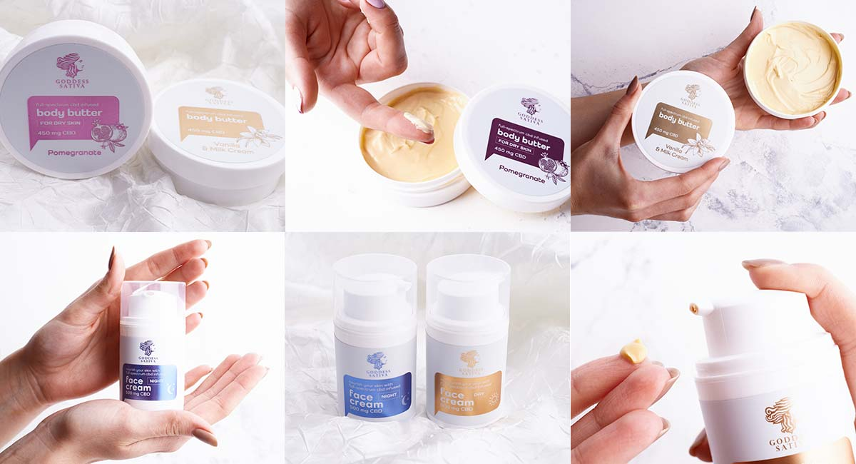 Body butter and face creams